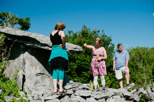 dowising at local dolmen on Earthwise tour