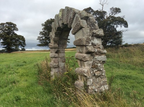 Early Norman arch on Earthwise/Celtic Trails tour