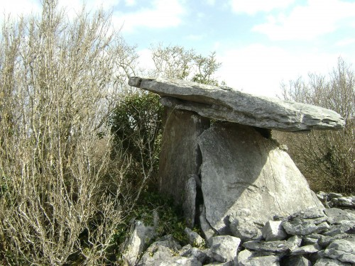 hidden dolmen near Gort and Kinvara in the Burren