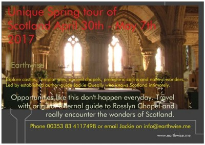 Tour Templar Scotland tour 30th April – 7th May 2017