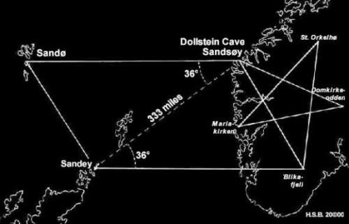 tracing the Norway pentagram
