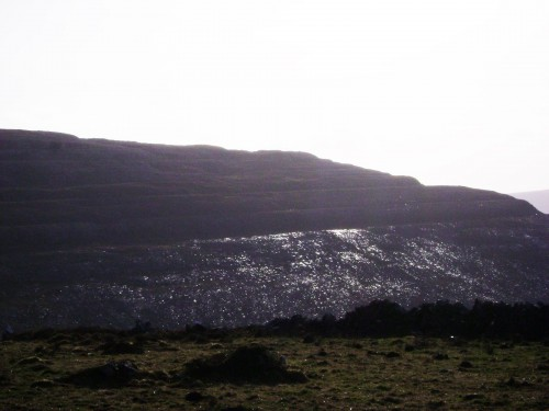 Earthwise moment with glistening rocks of the Burren