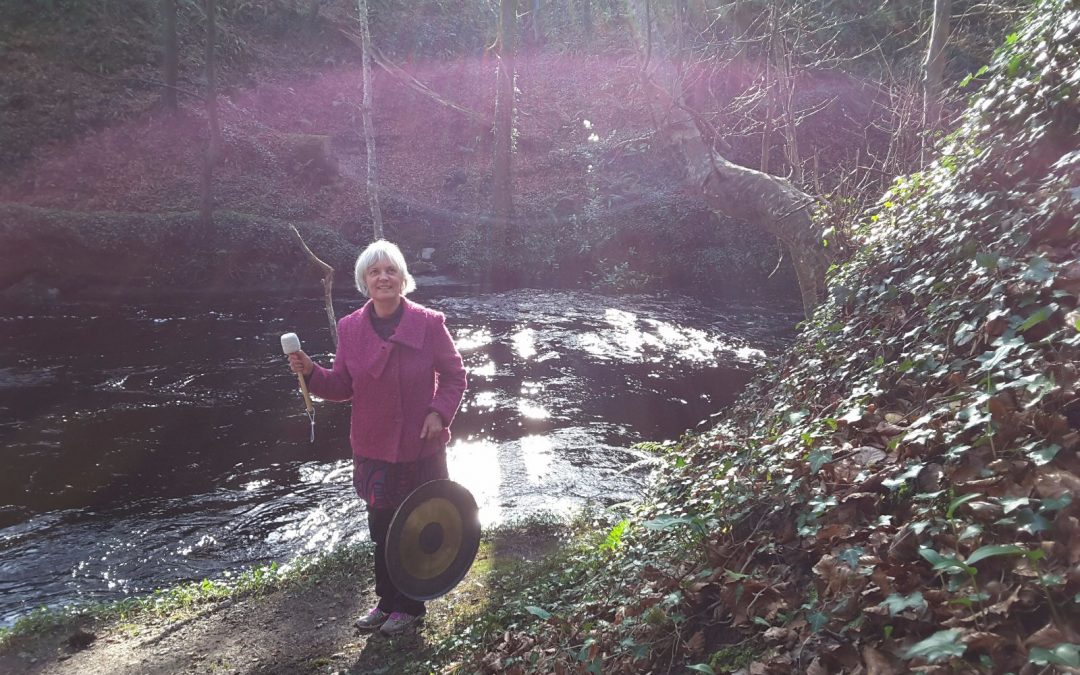 Sound healing in Natural Forest